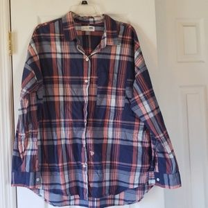 Gently worn old navy plaid blouse